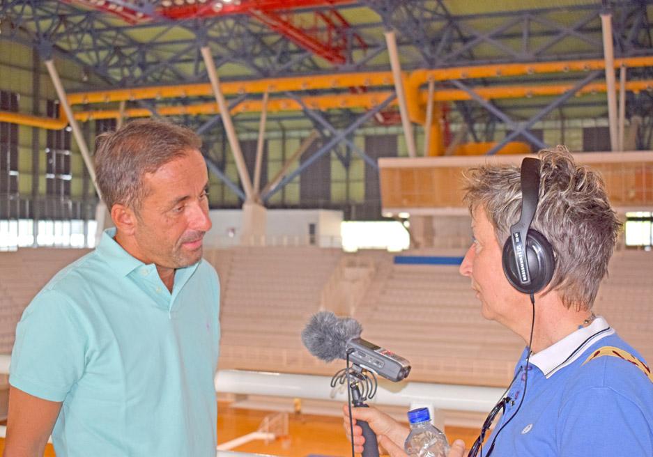Συνέντευξη Δημάρχου Γαλατσίου στο Γαλλικό Ραδιόφωνο για το Κλειστό Ολυμπιακό