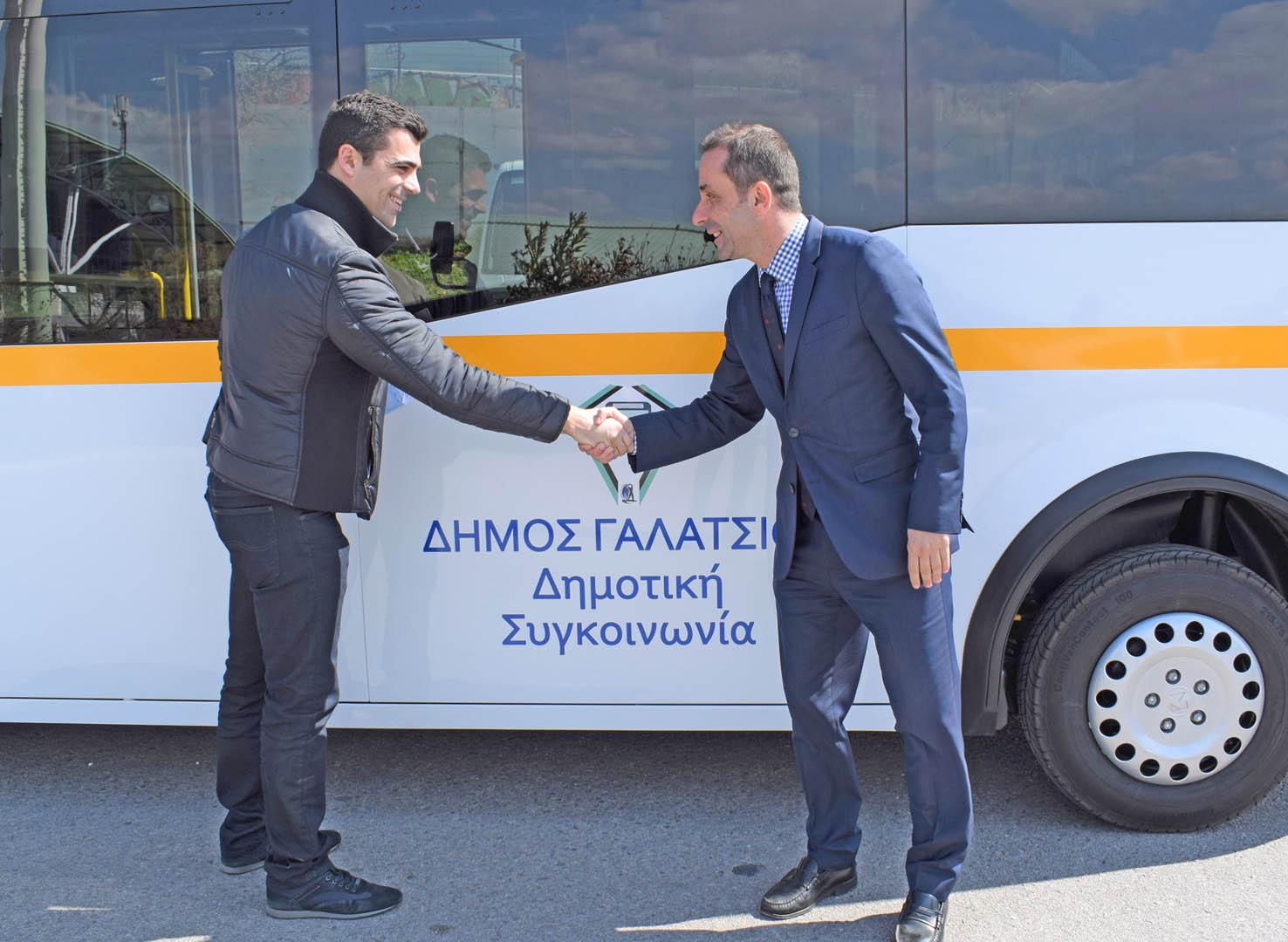 Παραλήφθηκαν τα 2 λεωφορεία της Δημοτικής Συγκοινωνίας Γαλατσίου