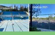 Την 1η Σεπτεμβρίου 2021 ανοίγει το Κολυμβητήριο και αρχές Οκτωβρίου τα γήπεδα τένις στο Άλσος Βεΐκου